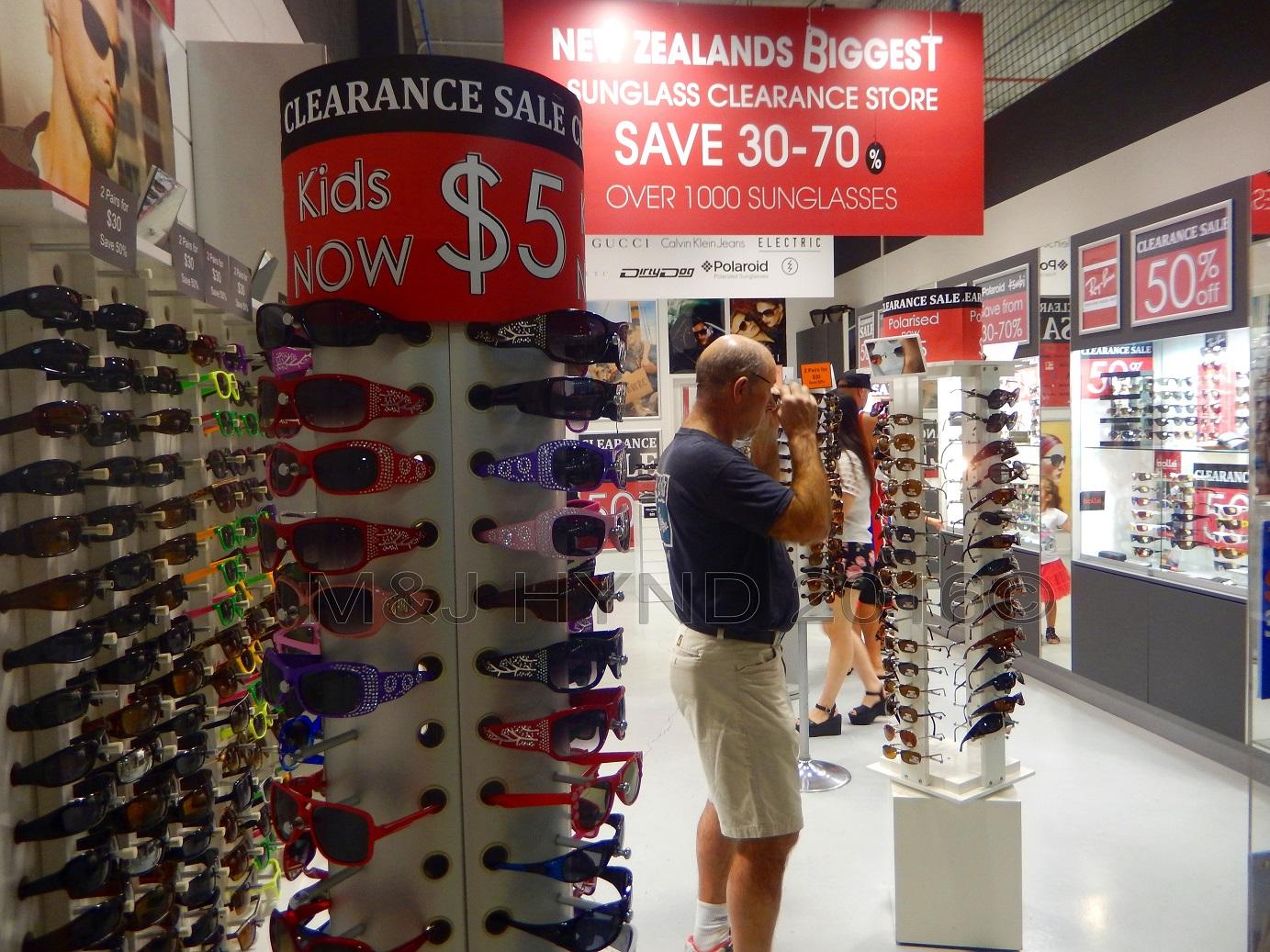 sunglasses, Dress Smart outlet mall, Onehunga, NZ