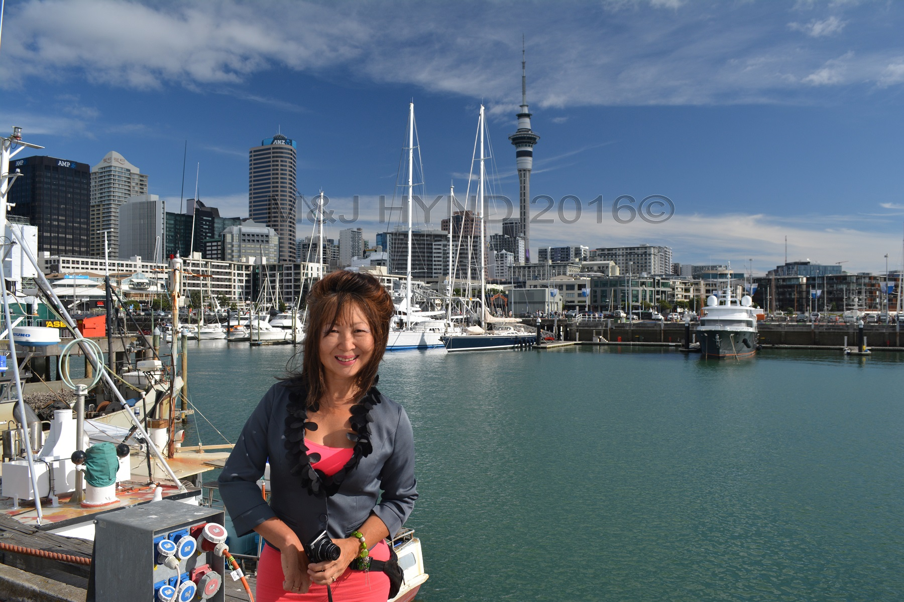 Viaduct Harbour Skytower, Seafood Festival, Auckland, NZ