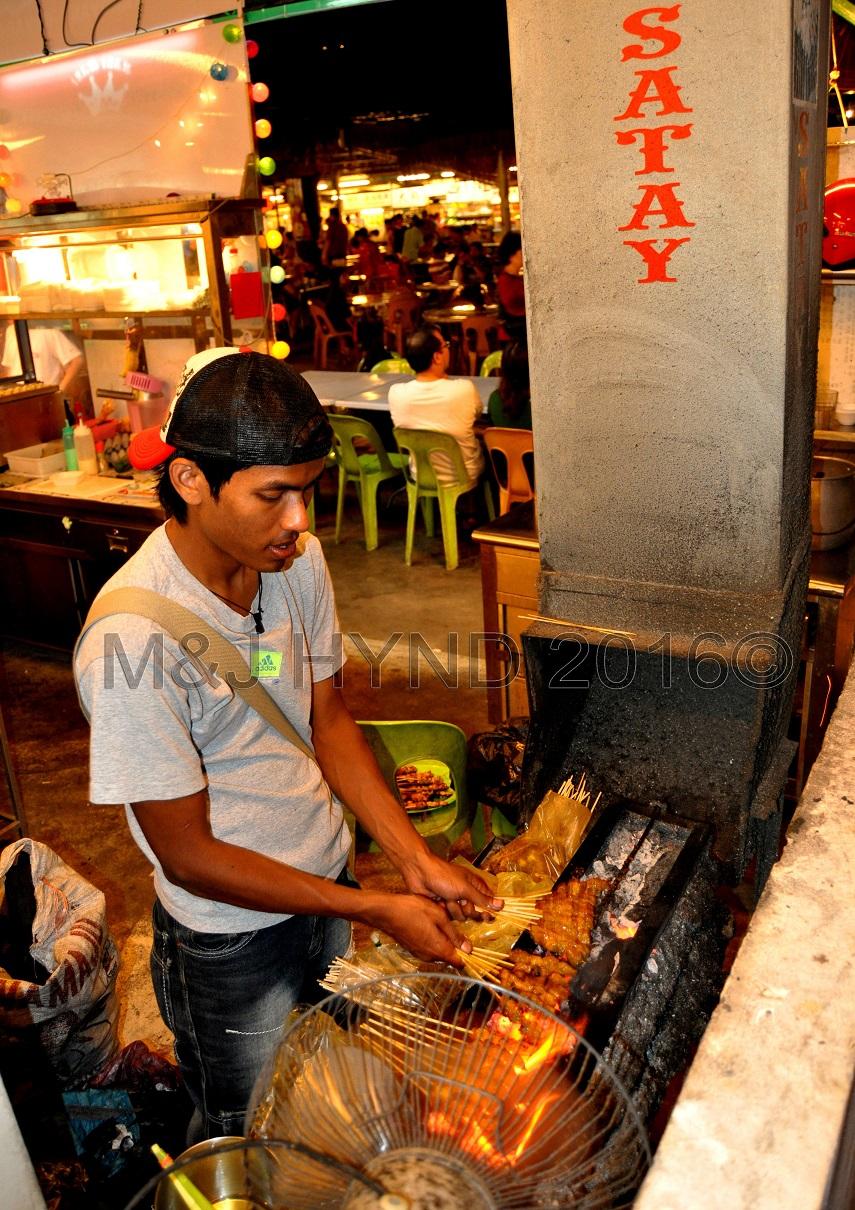 street satay vendor, Penang, Malaysia