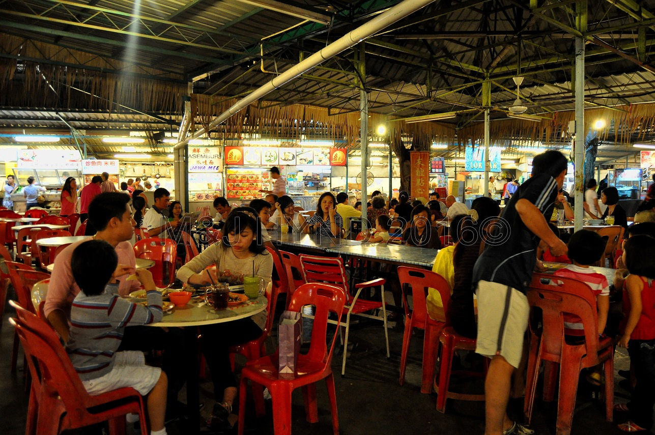 food court, waterfront, Penang, Malaysia