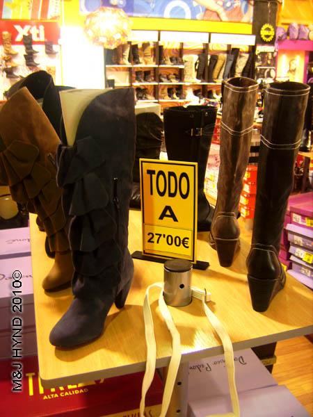 Elche shopping shoes Spain