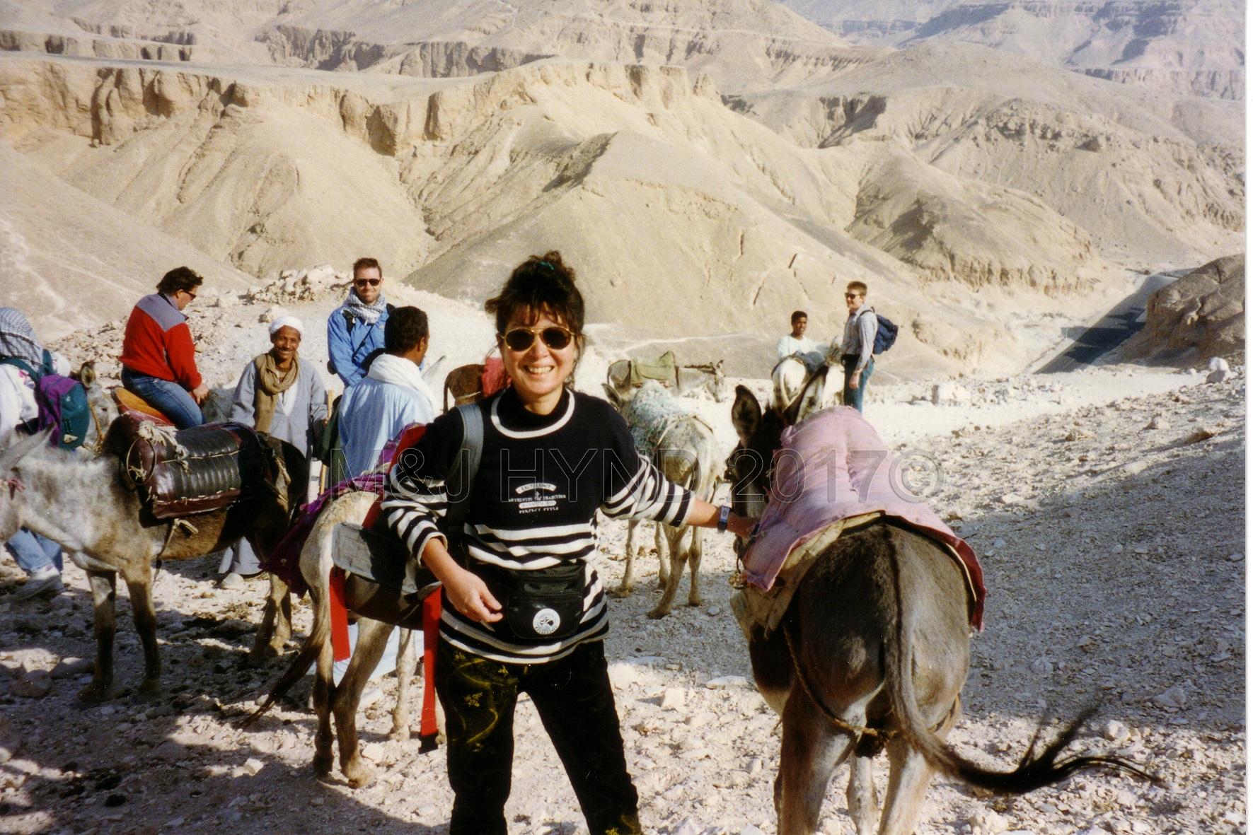 PreStroke ride on donkeys Valley of the Kings, Luxor, Egypt