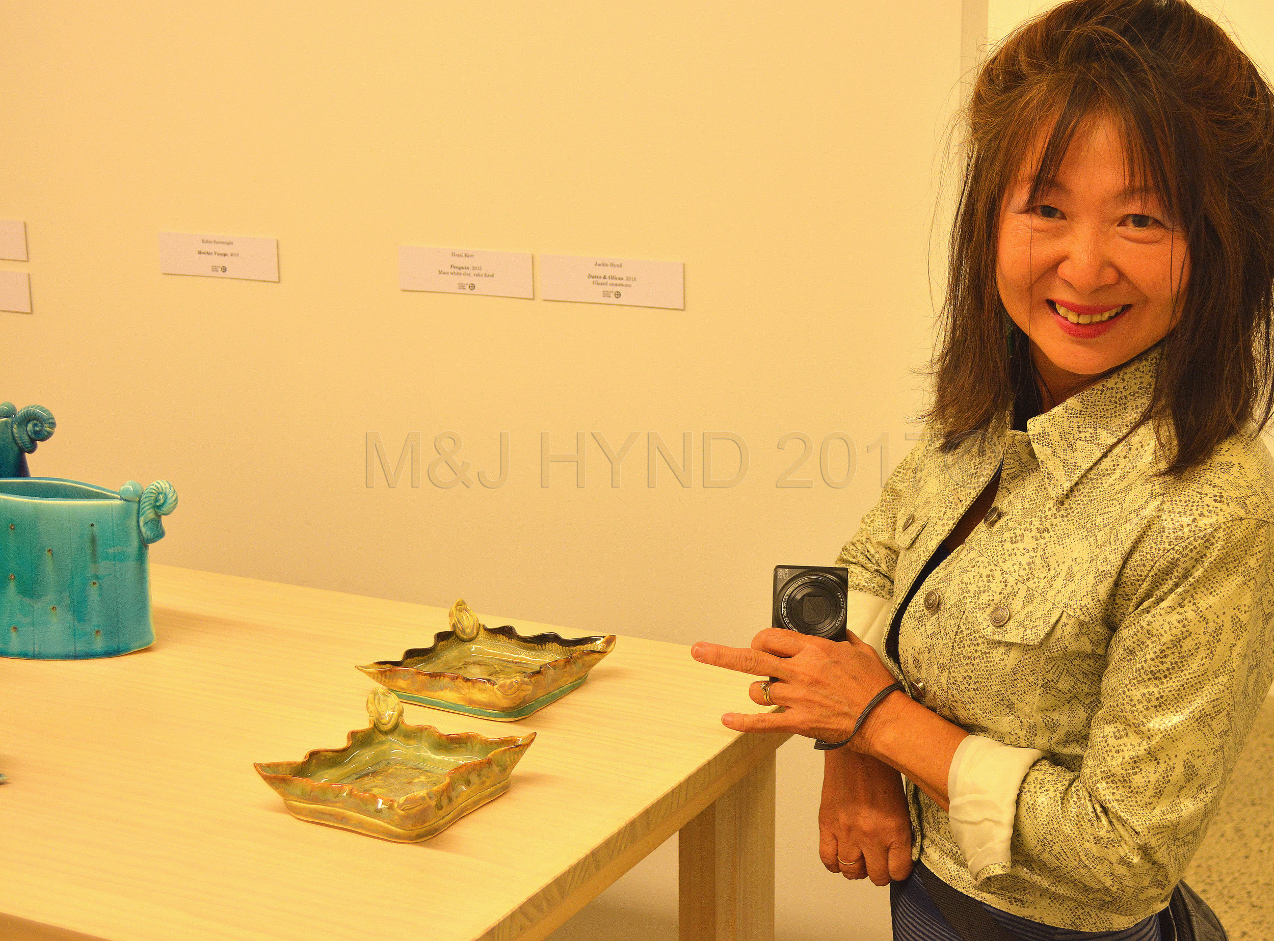 Pottery exhibition, my pieces, Pah Homestead, Wallace Art Trust's collection, Auckland NZ