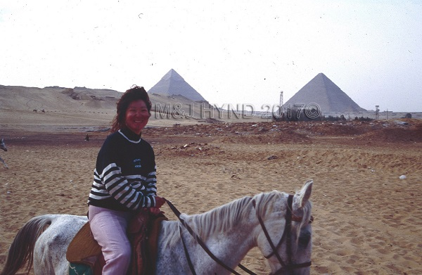 Pre-stroke: second time on a horse - giza, cairo, egypt