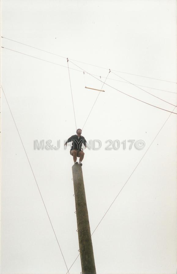 Rock+Ropes, preparing to leap, Taupo, NZ