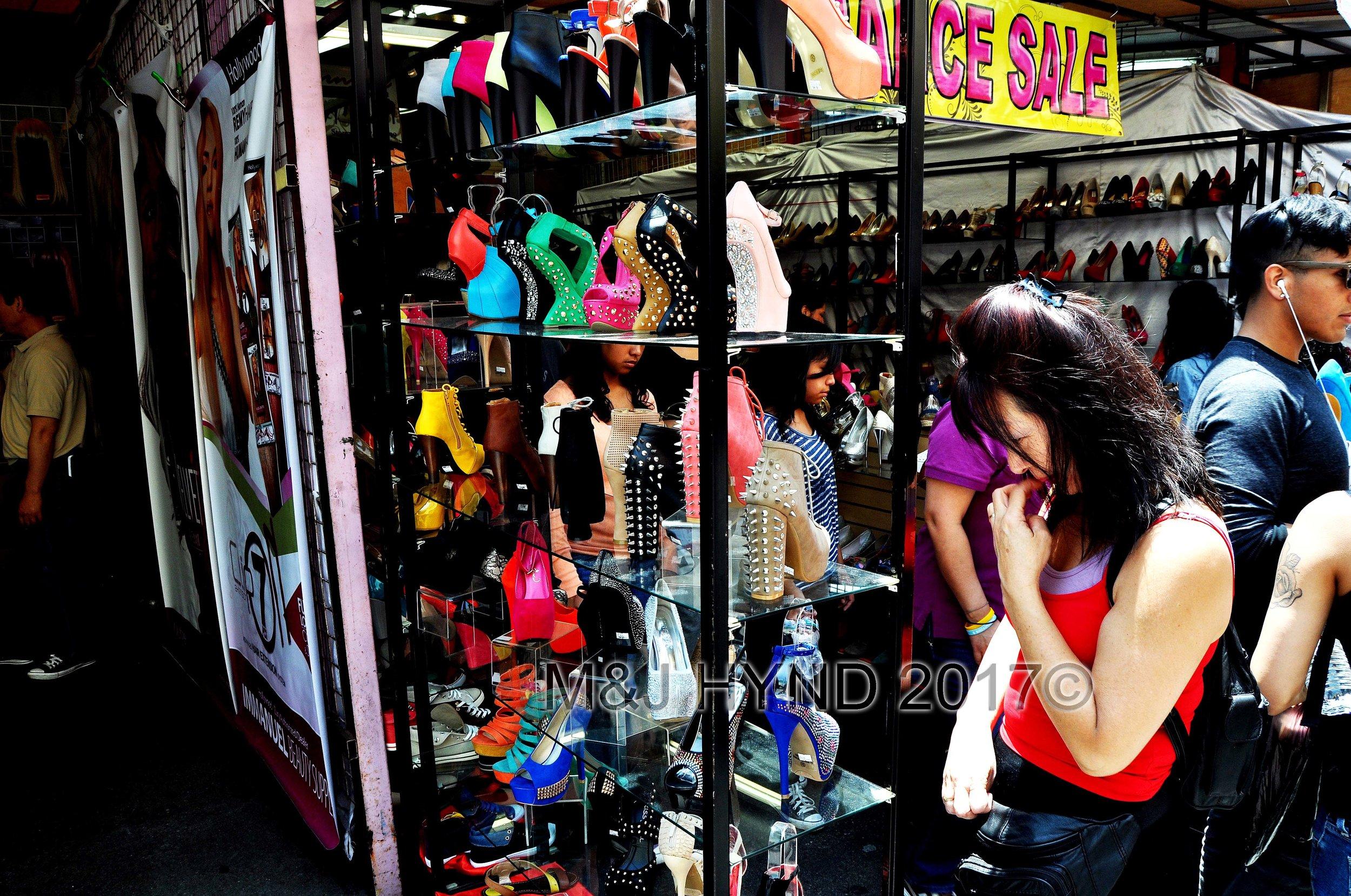 stilletos on Santee Alley, Fashion District, LA, USA
