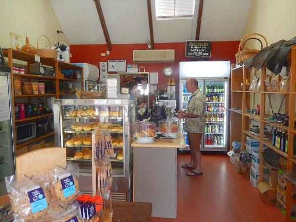 local delicatessen with pies, mozzarella, Clevedon, NZ