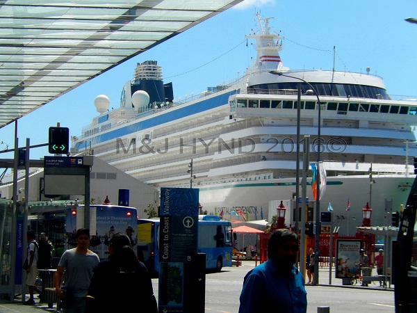 Cruise ship liner, waterfront, Auckland, NZ