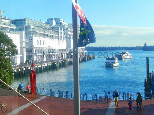 Daily ferry transport, waterfront, Auckland, NZ