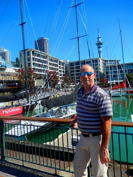 Viaduct harbour Skytower view, waterfront, Auckland, NZ