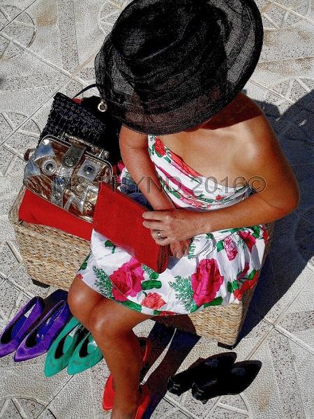 model cocktail dress, Perleta, Elche, Spain