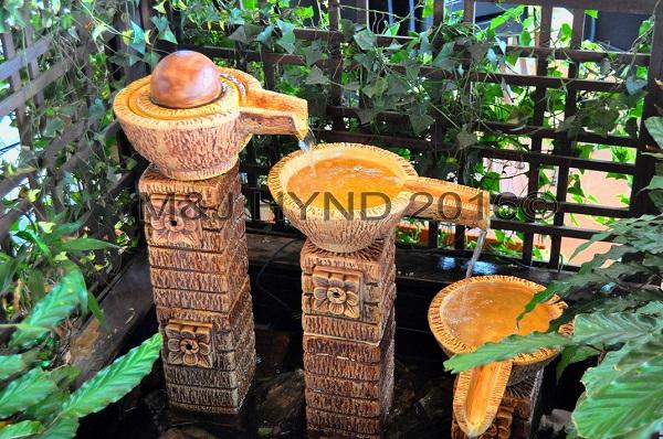 3-level fountain, Cameron Highlands, Malaysia