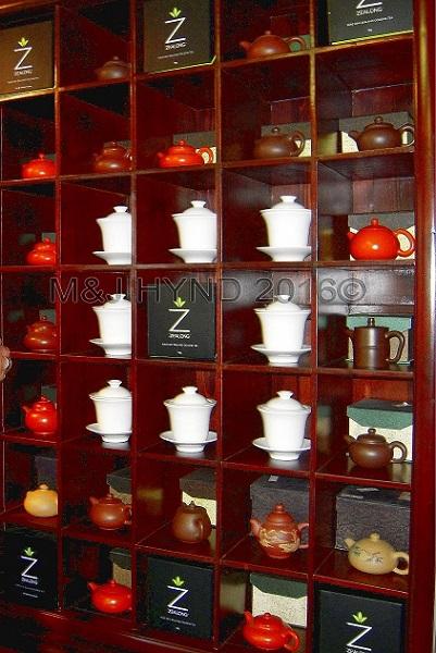 Zealong Estate, miniature teapots, Waikato, NZ
