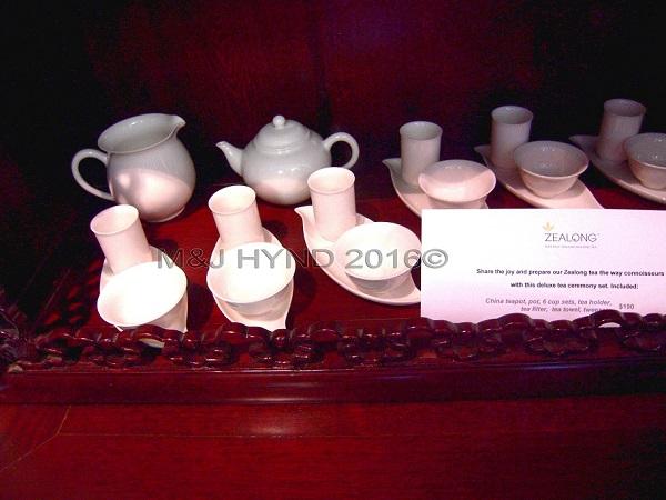 Zealong Estate, ceramic tea sets, Waikato, NZ