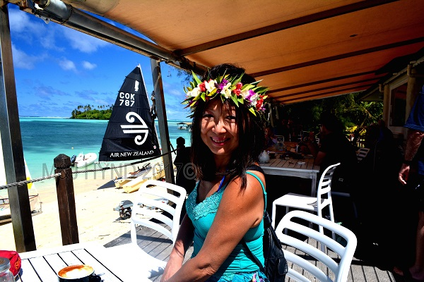 Sails Café with catamarans, Muri, Rarotonga, Cook Islands