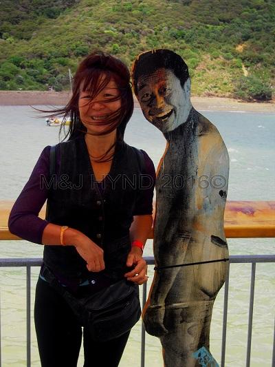 cheeky naked man looking back, Sculpture On The Gulf, Waiheke Island, NZ