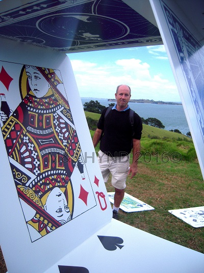 hilltop house-of-cards, Sculpture On The Gulf, Waiheke Island, NZ