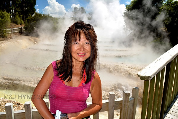 boiling pools, Wairekei Terraces, Geothermal Valley, Taupo, NZ
