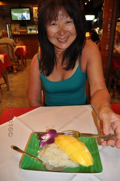 mango sticky rice dessert, Koh Samui, Thailand