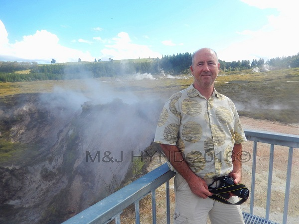steaming fumaroles, Craters of the Moon, Taupo, NZ