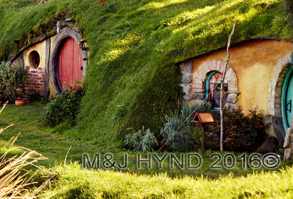 Hobbiton hobbit holes, Matamata, Waikato, NZ