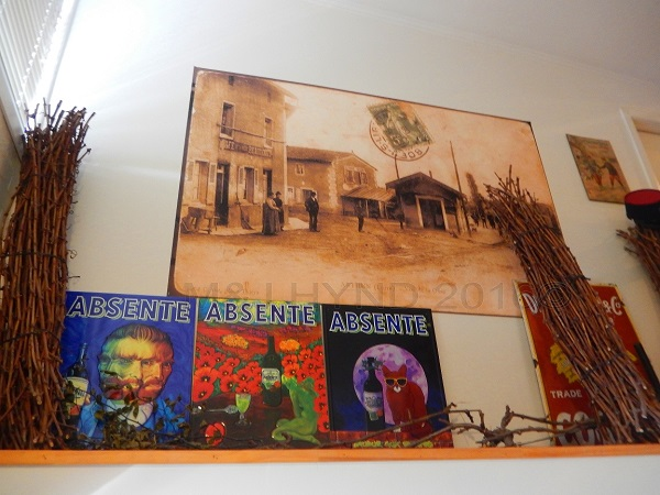 nostalgic Absente posters, L'Atelier du Fromage, Auckland, NZ