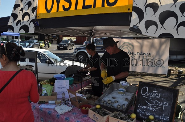 shucking oysters, French Market at La Cigale, Parnell, Auckland, NZ