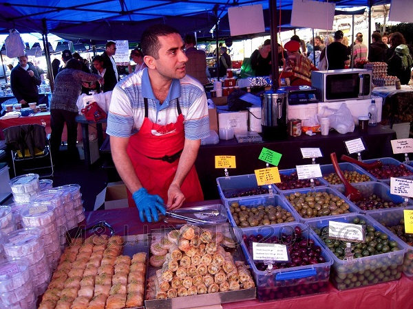 fresh baklava and olives, French Market at La Cigale, Parnell, Auckland, NZ