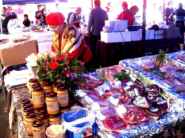 cured meat and peanut butter, French Market at La Cigale, Parnell, Auckland, NZ