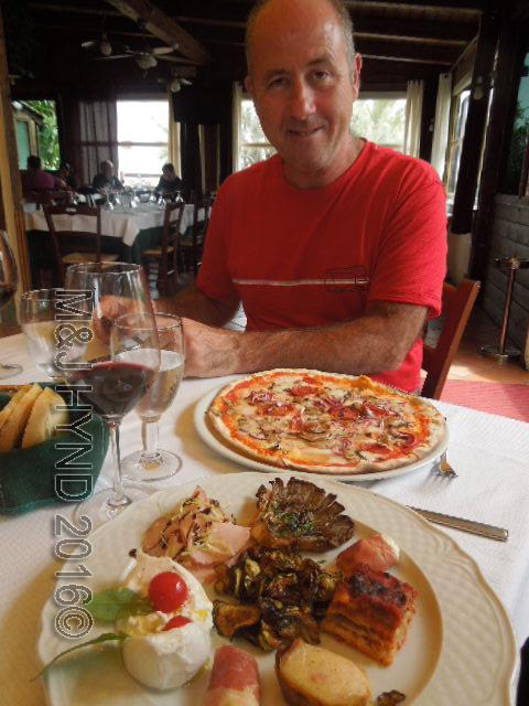 pizza lunch at trattoria, Monopoli, Puglia, Italy