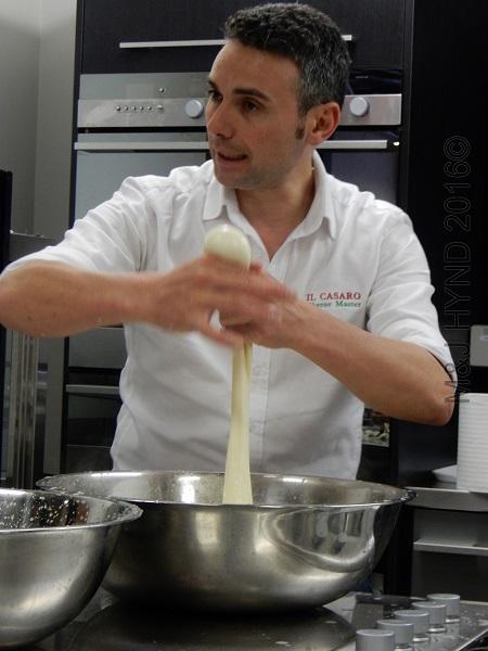 Il Casaro mozzarella demo:  boccocini, Auckland, NZ