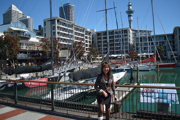 Viaduct harbour boats, SkyTower, Auckland, NZ