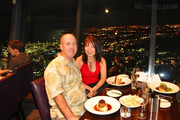 SkyTower Orbit 360 restaurant, Auckland, NZ