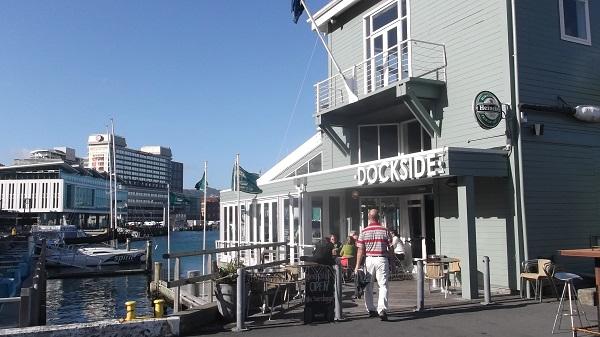 Dockside waterfront restaurant, Wellington, NZ