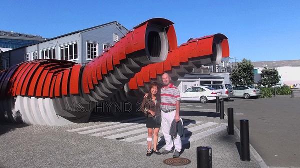 'lobster' public toilets on waterfront, Wellington, NZ