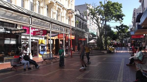 Cuba Street skateboarders, Wellington, NZ