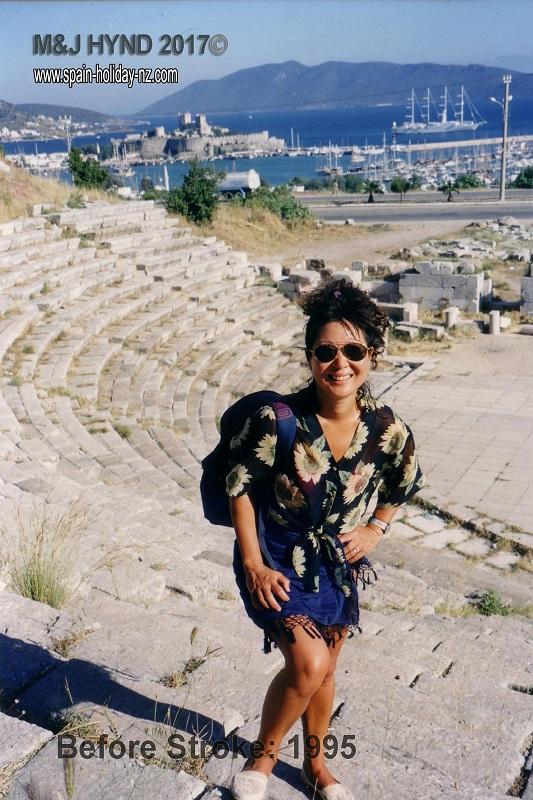 amphitheatre ruins in the hills behind bodrum, turkey
