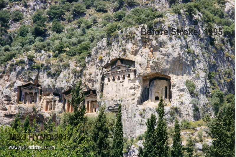 ancient tombs at kaunos: dalyan, turkey