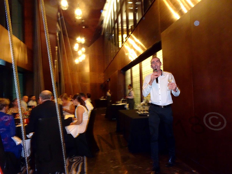 andrew harris, the consummate wine ambassador, in full flight