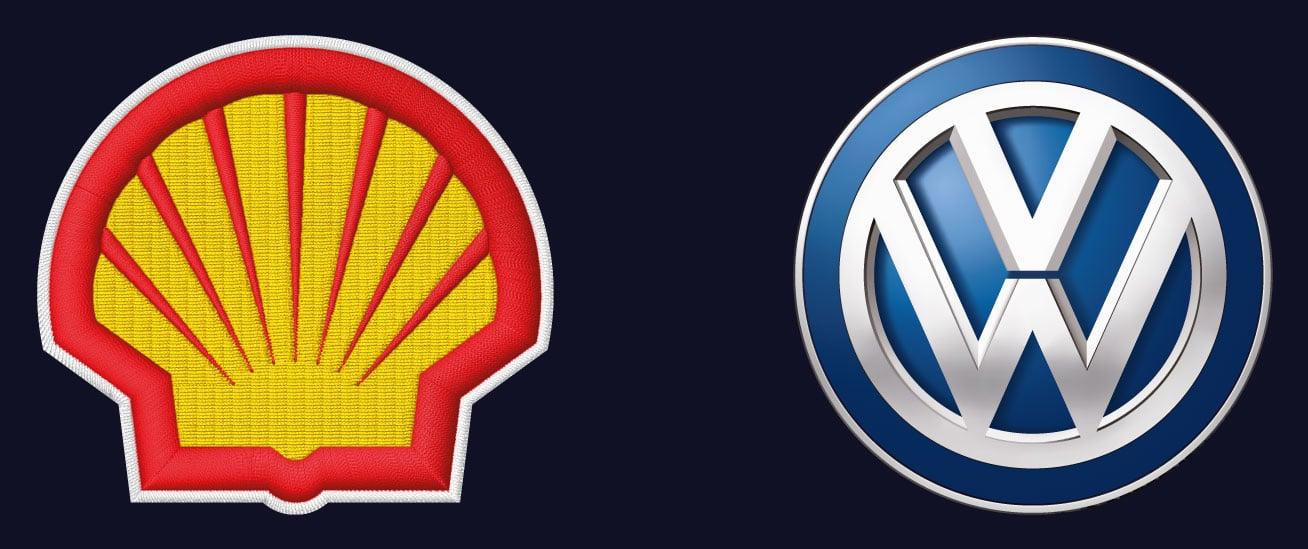 Eksempel på logo i HD-trykk.