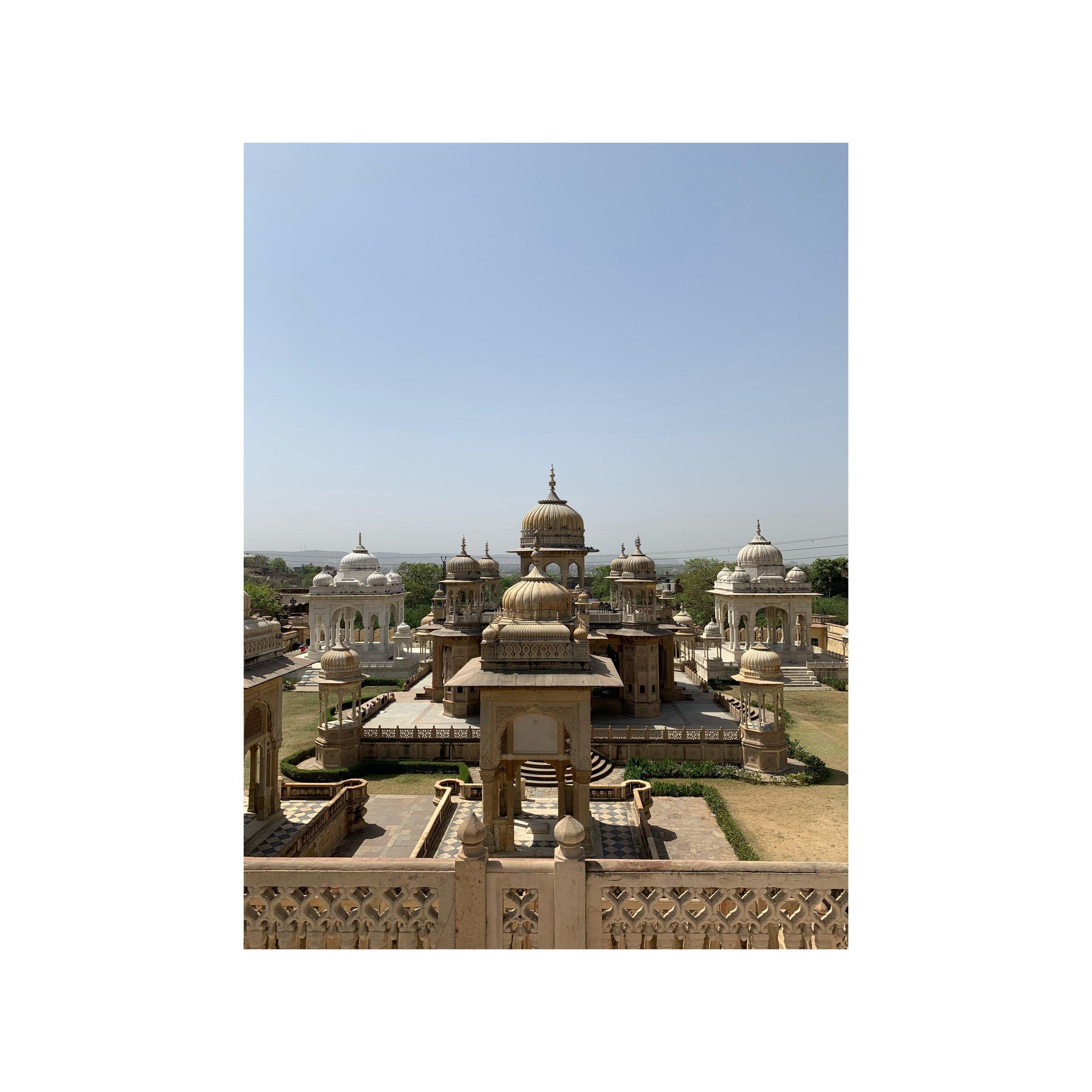 Gatore Ki Chhatriyan - Ancient Architecture Temples travelling in Jaipur India - Sahana Byron Bay.JPG