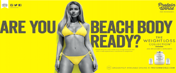 Remember the Beach Body advert from Protein World?