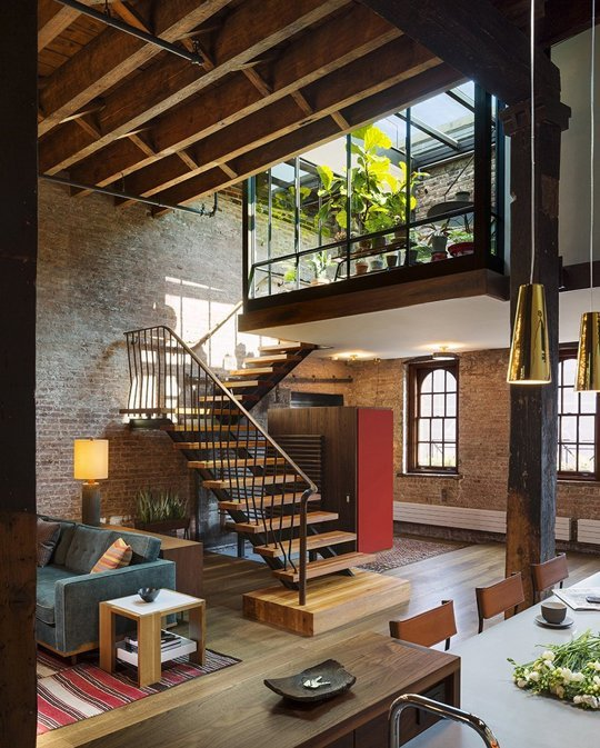 A Converted Tribeca Warehouse Brings the Outdoors In /  Apartment Therapy  HOME GOALS.
