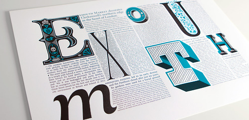 slapdashing :     Typographic Time Capsule: Exmouth Market Print  Here is the final… Type Worship