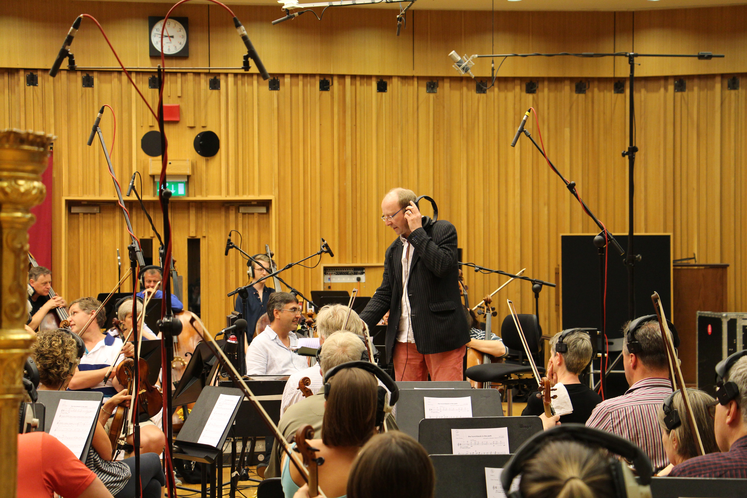 John Hardy conducting the BBC National Orchestra of Wales
