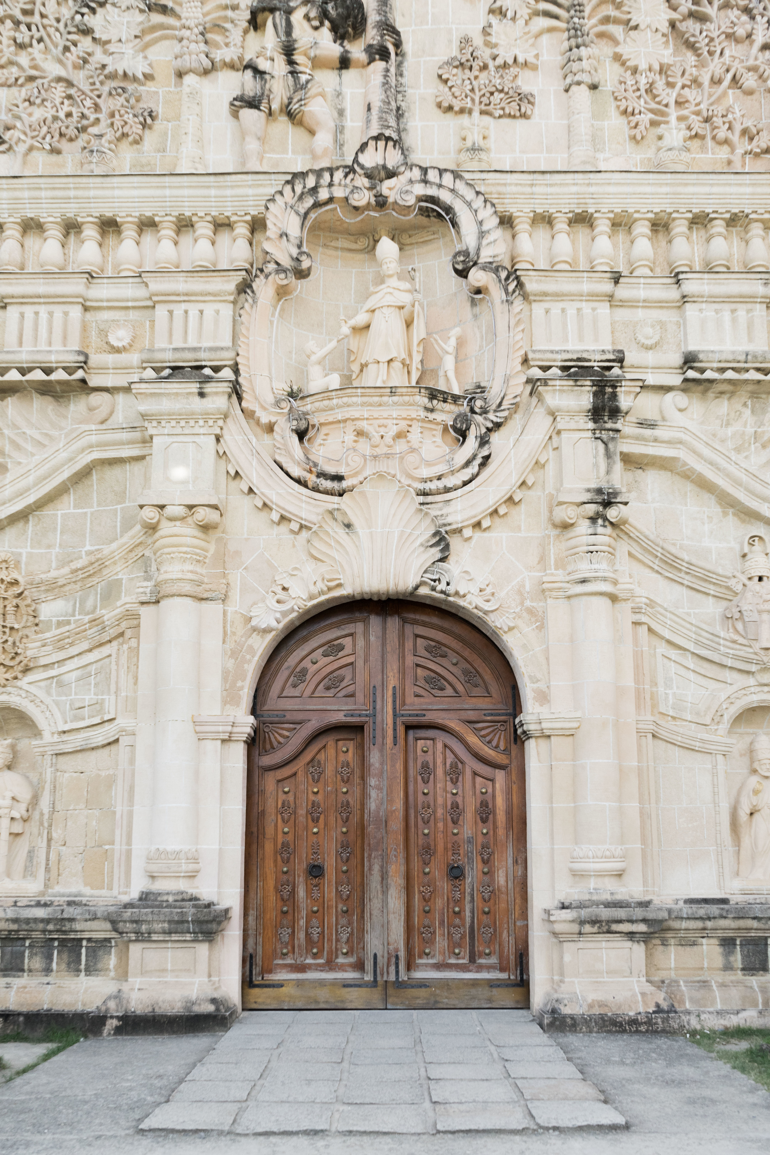 The facade of the Miag-ao Church built in the 1700s. Made of Coral.