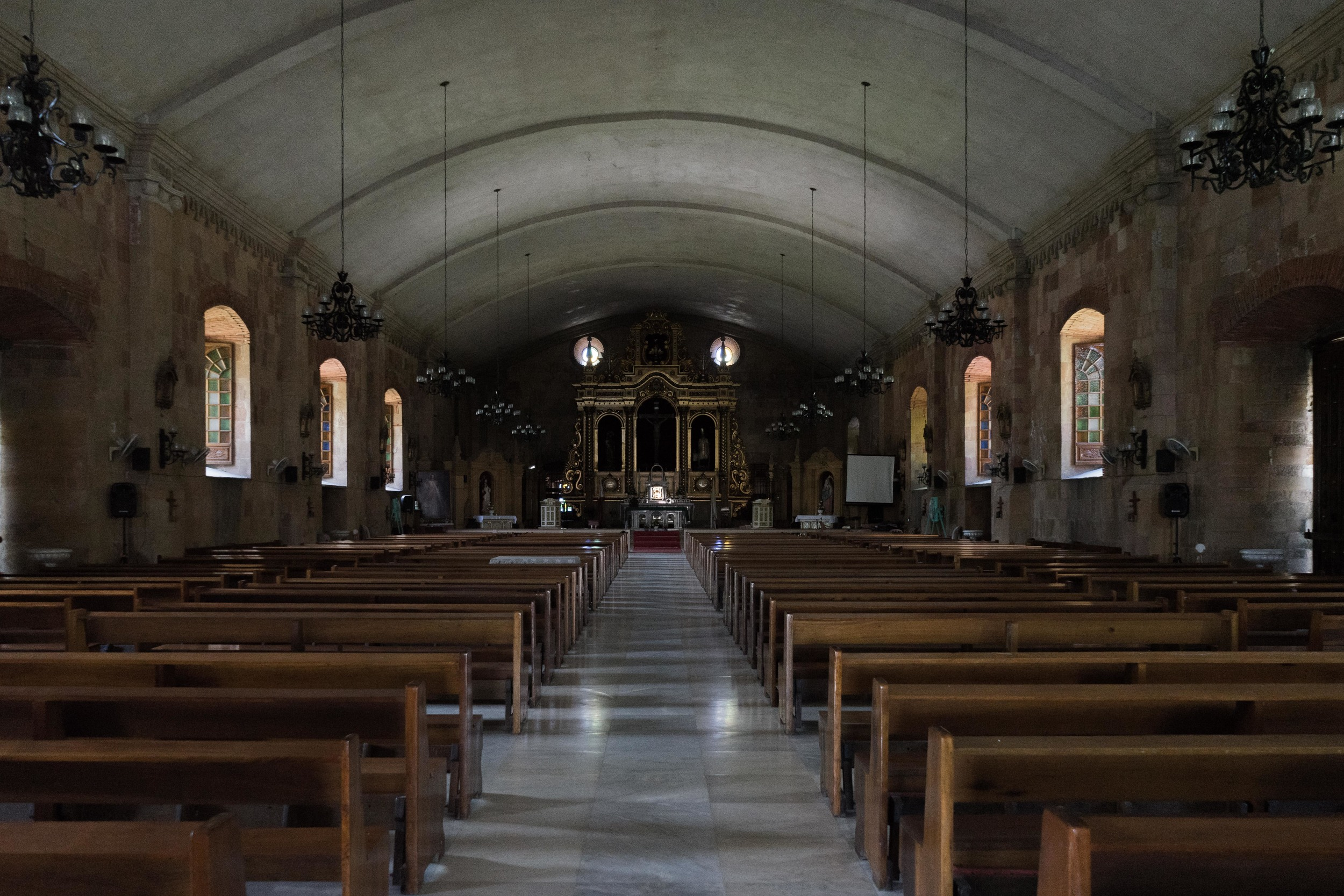 Interior of the Miag-ao Church