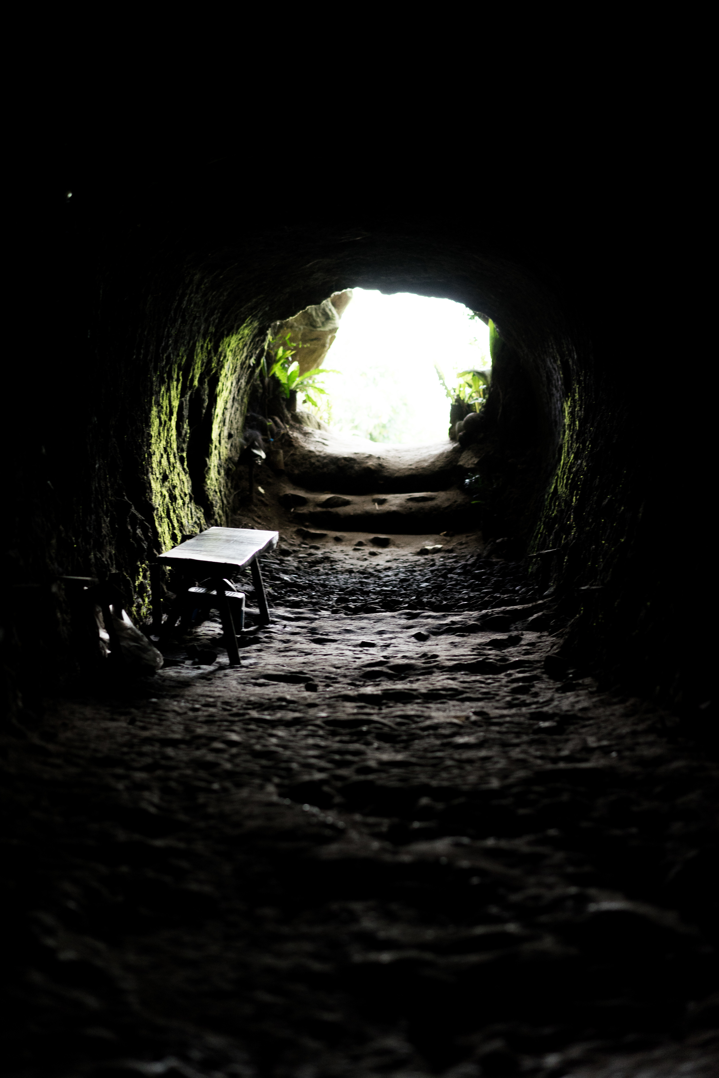 This is one of many tunnels built by the Japanese during the war. First time to actually go inside a cave. It's amazing how deep these tunnels go.
