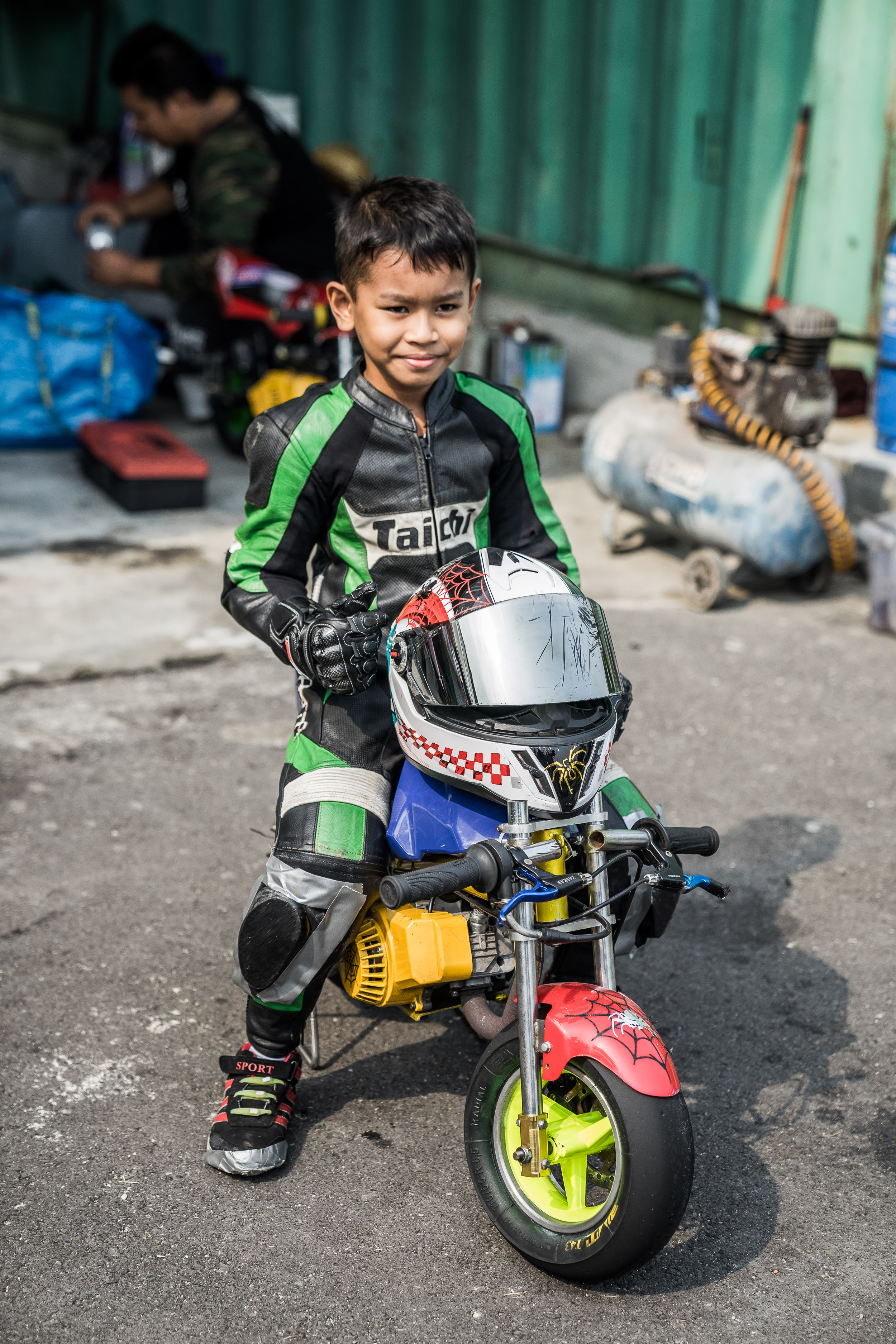 This kid has won a couple of races already and he's so young!