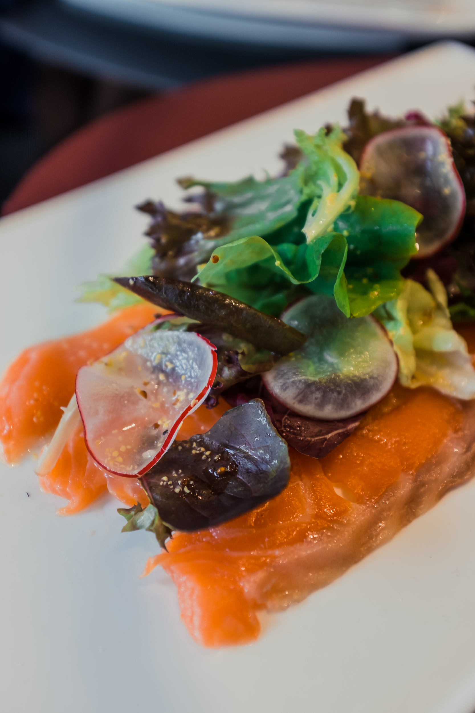 Saumon Fume - Home-Smoked Salmon, Iceberg Lettuce, and Pmmery Dressing